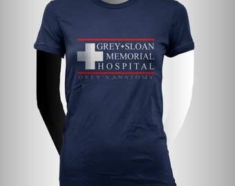 Grey Sloan Memorial Hospital Grey's anatomy printed on Women tee