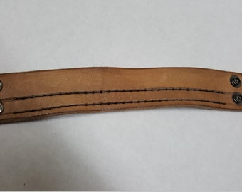 Hand stitched leather cuff