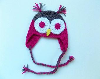 Crocheted Owl Children Hat