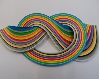 Quilling Paper . Assorted colours, 450mm long, 175 Strips.  4 different widths available
