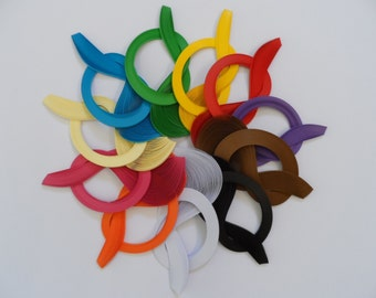 Quilling Paper 3mm . Bulk Pack, 11 bundles, 1100 strips.