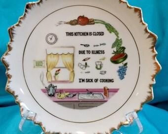 Mid Century 1970's Kitchen Wall Plate