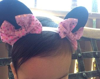 Baby Minnie Ears, Minnie Mouse headband, baby headband, toddler headband