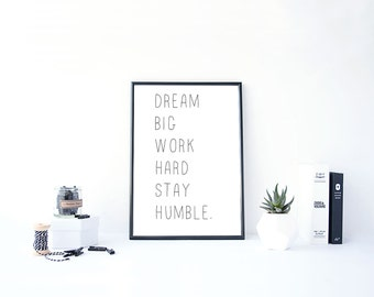 Printable Quotes Work Hard