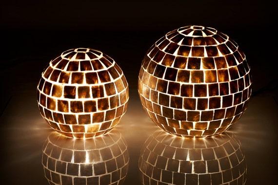 ultra chic gold square capiz globe lamps. Black Bedroom Furniture Sets. Home Design Ideas