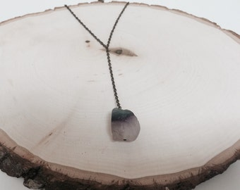 Purple Frosted Stone Necklace