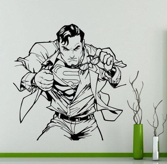 superman flight wall sticker superhero dc marvel comics vinyl