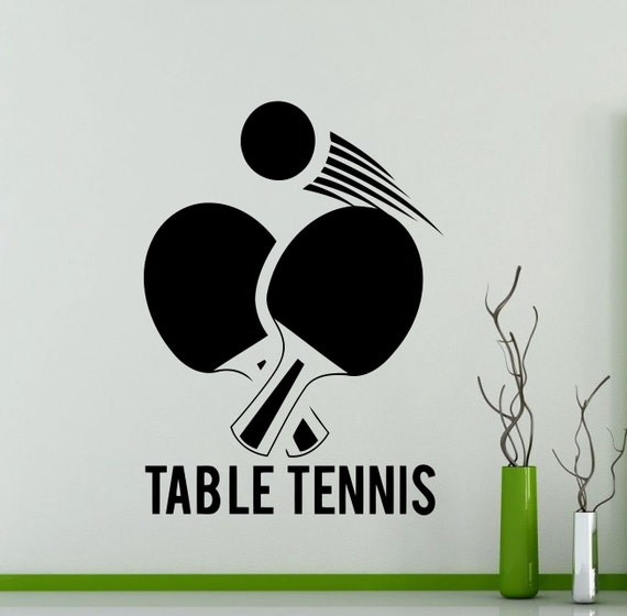 Table Tennis Logo Wall Sticker Sports Ping Pong Vinyl Decal