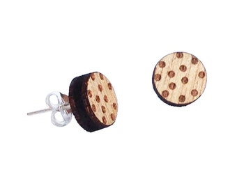 Round Polka Dot Earrings Melbourne made