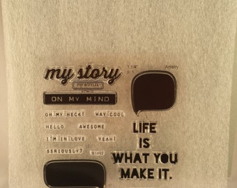 Close To My Heart B1482 My Story Stamp Set