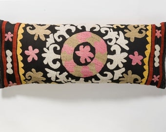 Suzani Pillow - Light Pink Flower
