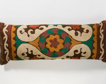 Suzani Pillow - Mustard Flower