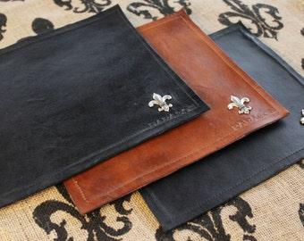 Leather Mouse Pad, leather mousepad, elegant personalized gift, personalized leather mouse pad, personalized leather mousepad, gift for him