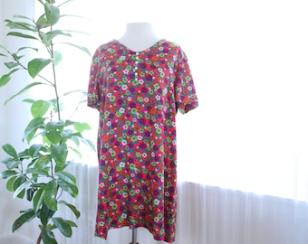 60s Psychedelic floral dress