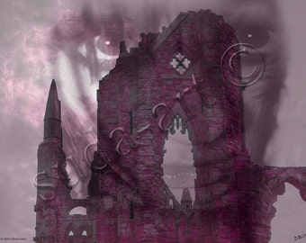 A digital painting from an original sketch.titled 'Gothby'