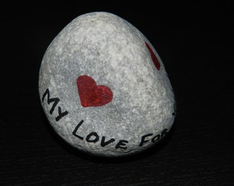 Love Personalised Mediterranean Pebble