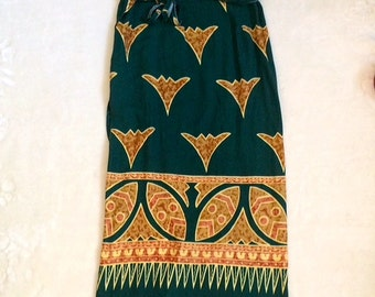 90s tribal wrap skirt