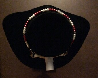 Christmas/Valentines Day Beaded Trach Tie