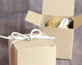 Mini kraft gift box, set of 10, weddings, bridal parties, birthdays, favors, candy treat bags,