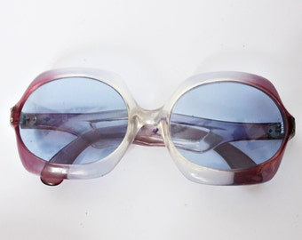 Vintage Sunglasses 60s / 70s Oversized Mod Hippie Retro