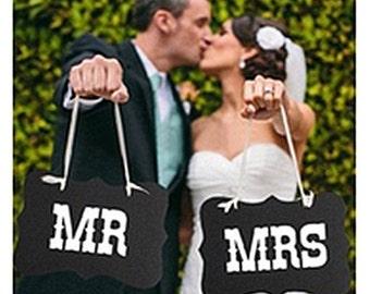 Mr. & Mrs. Photo Prop or Wedding Deocration