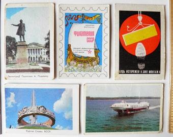 Soviet vintage calendars - Set of 5 calendars 1973 & 1974 years