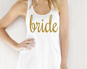 Bride Flowy Tank. Bride Tank. Bridal Party. Wifey. Bachelorette. Bachelorette Party. Wedding. Honeymoon Shirt