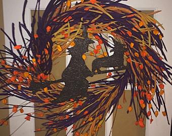 Pembroke Welsh Corgi Halloween Wreath
