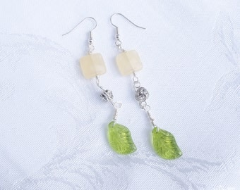 Lemon Jade & Periodot Earrings