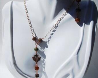 Copper Focal Piece Necklace Set