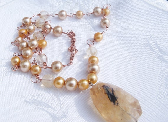 Pearl & Quartz Necklace