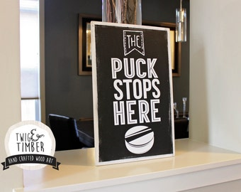 Puck / Hockey Art for Home or Kid's Room!