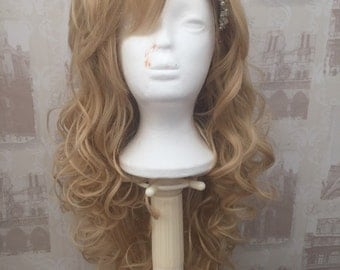 Blonde curly non lace front wig