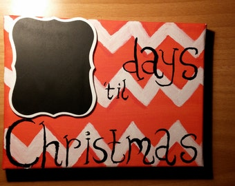 christmas painting,canvas,days till christmas,choc,gift
