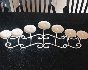 White  Swirly Candlebra for 7 Candles