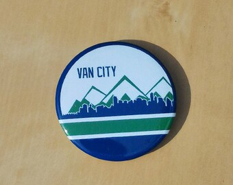 Van City - Vancouver Skyline 2 Inch Button