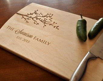 Custom Engraved Cutting Board - Personalized Cutting Board, Cutting Board, Wedding Gift, Housewarming Gift, Anniversary Gift, Christmas Gift