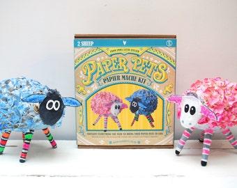 Sheep Paper Pets Papier Mache Kit