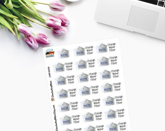 Change Water Filter Planner Stickers CAM00215
