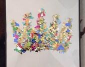 Framed Confetti Crown