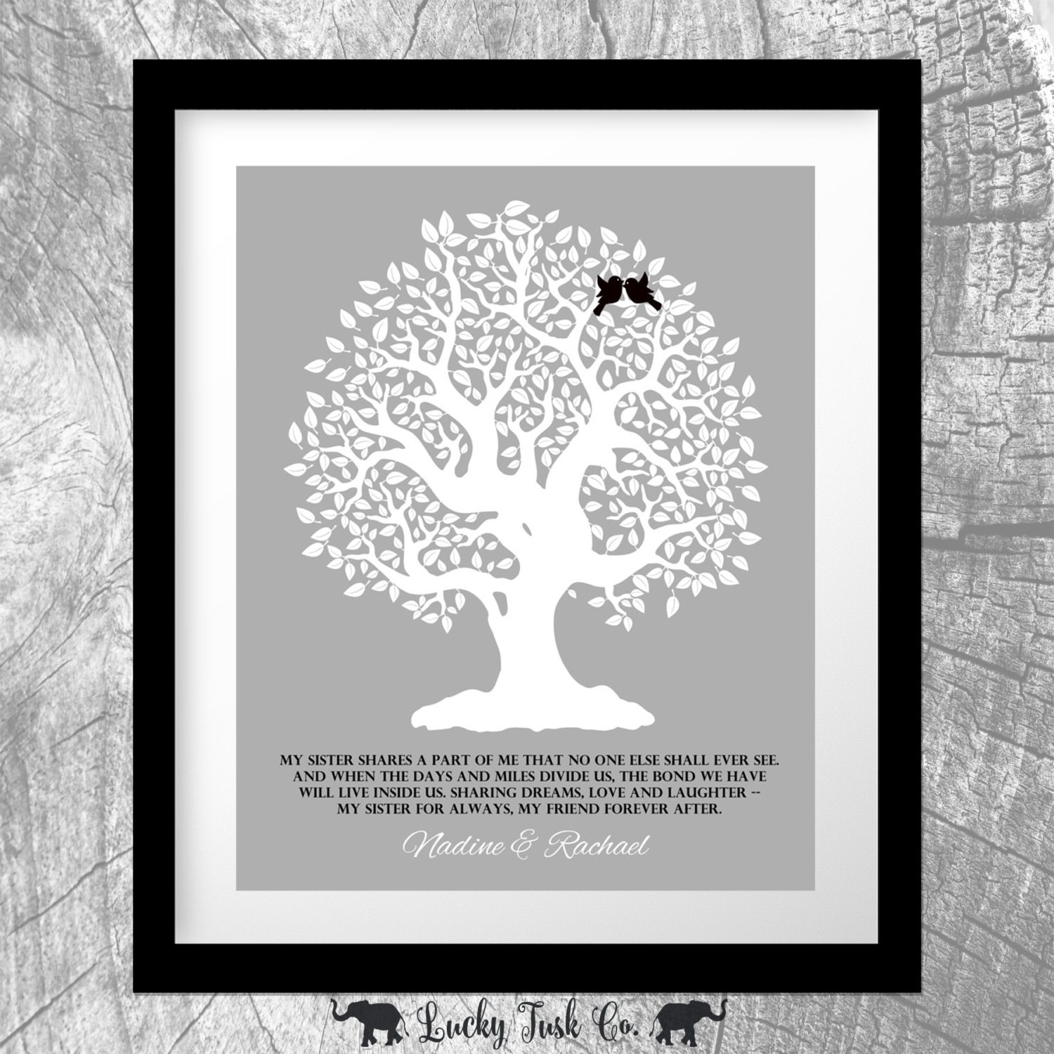 Wedding Gift For Sorority Sister : Personalized Gift For Sister Shares A Part of Me Gift From