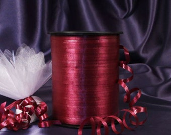 Burgundy Curling Ribbon