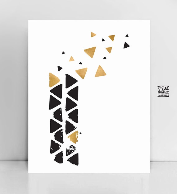 Minimalist clean wall art simple triangle art modern wall for Modern minimalist wall art