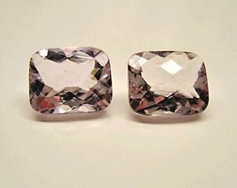 Pair of Lavendar Amethyst Gemstones