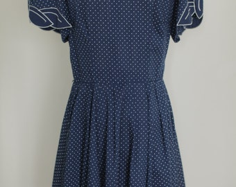 Sweet Vintage Polka-Dot Dress