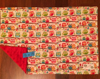 READY TO SHIP Happy Owls Flannel Blanket