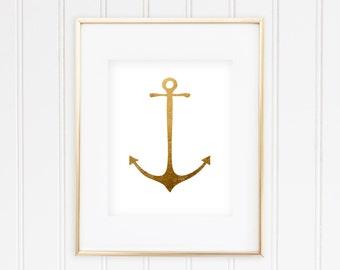Goldish Anchor - Real Foil