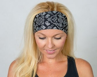 Yoga Headband Black Workout Headband Running Headband Fitness Headband Bandana Headband Fashion Headband  Women Head Wrap Wide Headband