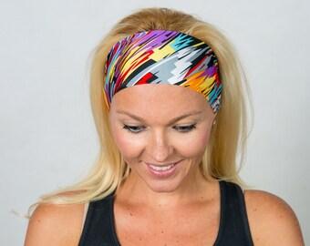 Yoga Headband-Fitness Headband-Running Headband-Workout Headband-Wide Bohemian Headband-Women Headband-Moisture Wicking Headband