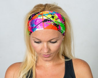 Headbands for Women Workout Headband Wide Headband Yoga Headband Stretchy Headband Turban Headband Running Headband Fitness Headband Bandana